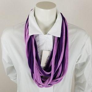 INFINITY Scarf Purple two tone raw edges